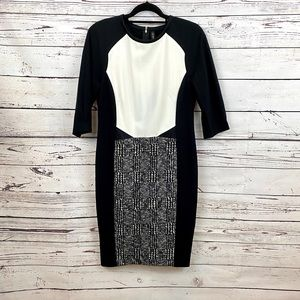 Marc Cain Collections Black White Sheath Dress